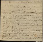 Letter from Jesse B. Green to James B. Finley