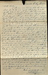 Letter from A.A. Spencer to James B. Finley