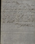 Letter from John Teesdale to James B. Finley