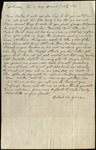 Letter from Richard D. George to James B. Finley by Richard D. George