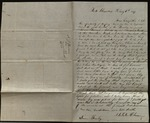Letter from A.J. Clawson & Hannah M. Clawson to James B. Finley
