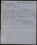 Letter from Henry Howe to James B. Finley