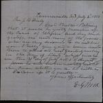 Letter from E.G. Wood to James B. Finley