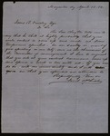 Letter from Jacob Phisler to James B. Finley
