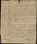 Letter from John F. Wright to James B. Finley