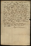 Letter from Joseph Hollinshead to James B. Finley