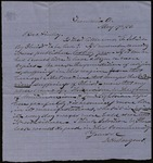 Letter from D.H. Sargent to James B. Finley