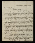 Letter from Mordecai Bartley to James B. Finley