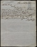 Letter from William M. Folges to James B. Finley