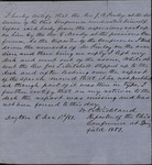Letter from W.P. Strickland to James B. Finley