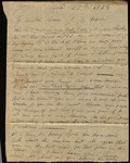Letter from Arthur W. Elliott to James B. Finley