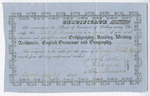 Teaching certificate for Thomas S. Armstrong