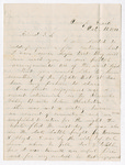 Letter from William H. Turner to Thomas S. Armstrong