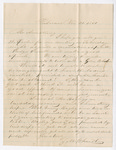 Letter from Zachariah Chandler to Thomas S. Armstrong