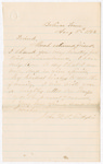 Letter from John W.A. Gillespie to Francis P. Porter by John W.A. Gillespie
