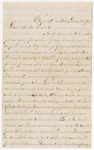 Letter from George W. Porter to Francis P. Porter by George W. Porter