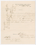 Letter from F. D. Sewall to Thomas S. Armstrong