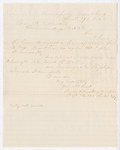 Letter from Thomas S. Armstrong to F.D. Sewall