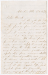 Letter from Huldah Porter to Francis P. Porter