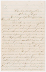 Letter from George W. Porter to Jacob G. Armstrong