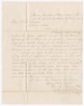 Letter from George W. Porter to R.R. Towns by George W. Porter